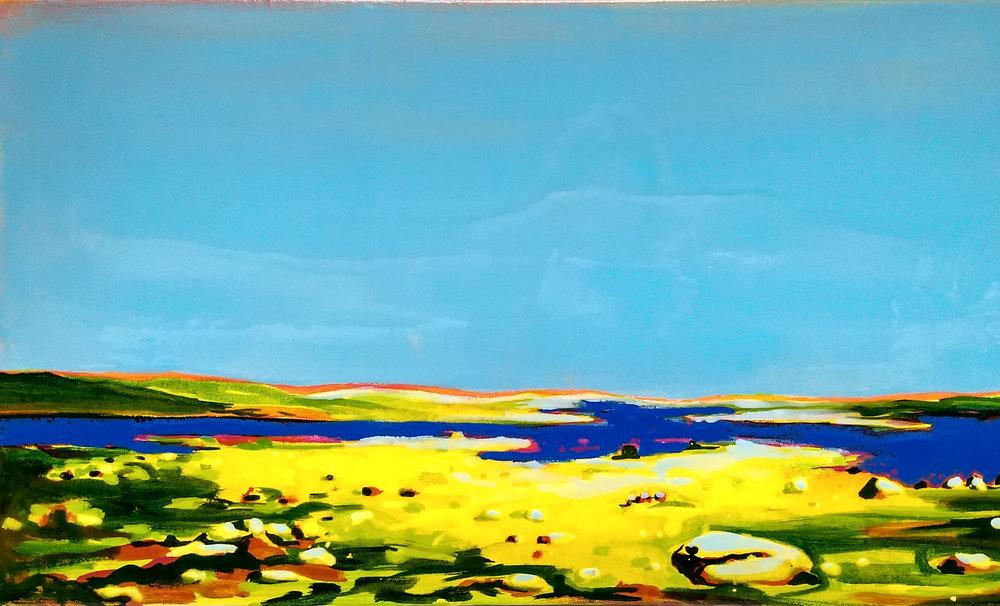 VORINGFOSS  50x100cm acrylic and epoxy on canvas  Sold