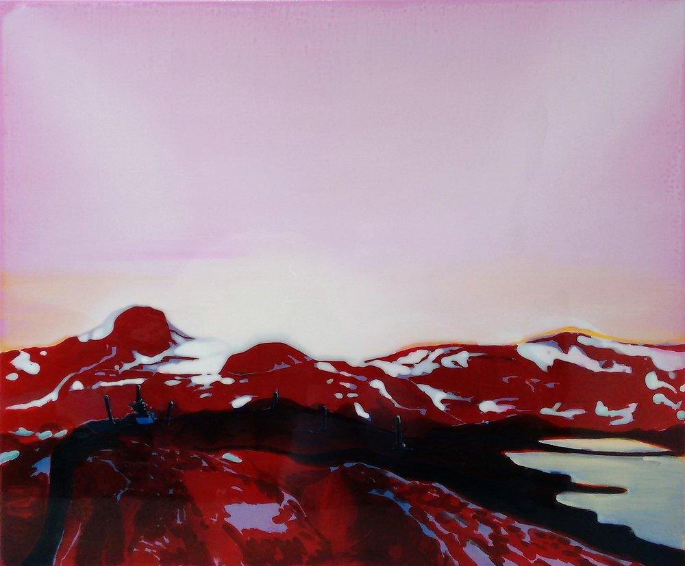 松恩山路 2 120 x 100 cm 布面丙烯酸及环氧树脂