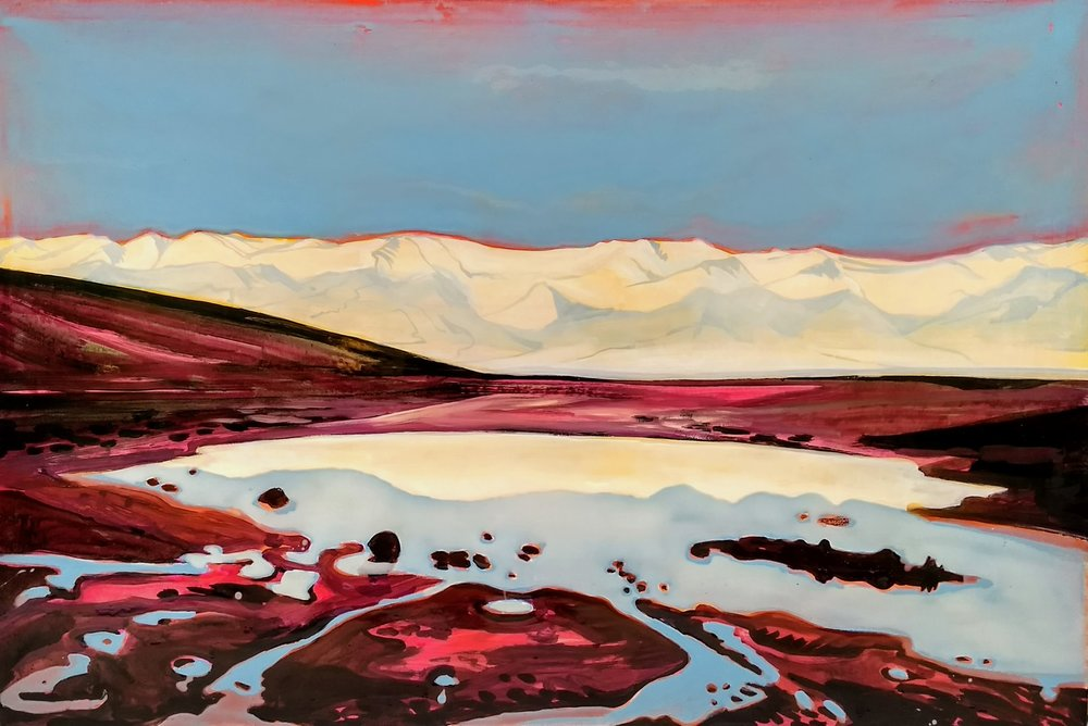 DEATH VALLEY SINK  75X120 cm Acrylic and epoxy on canvas