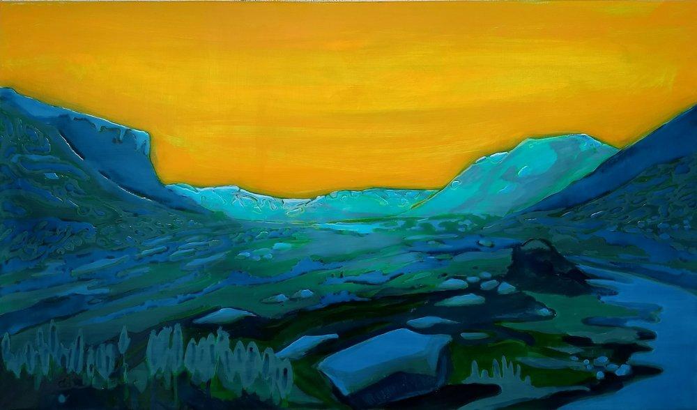 BODVERDALEN  60X80 cm Acrylic and epoxy on canvas