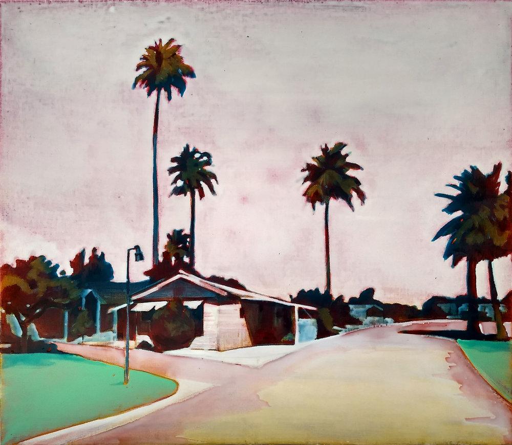 棕榈泉 100 x 115 cm 布面丙烯酸及环氧树脂 已售