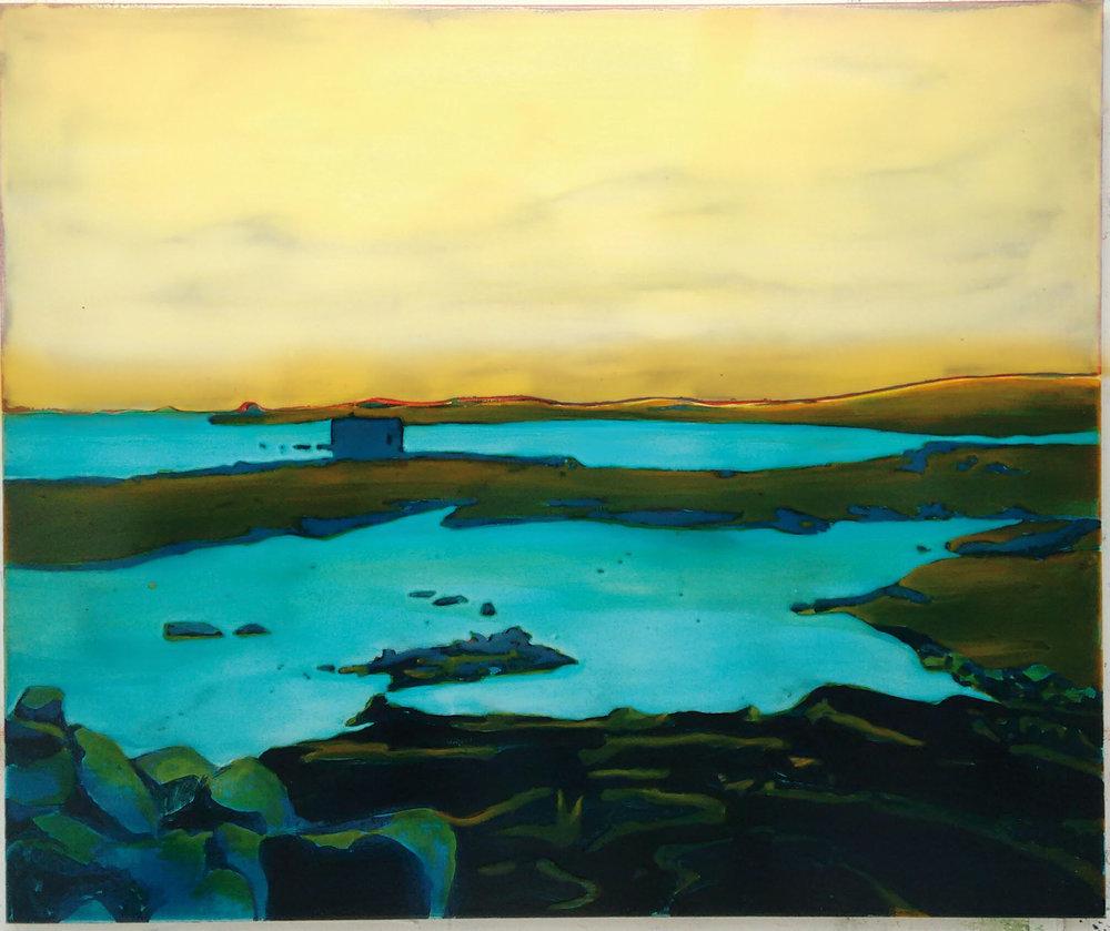 挪威湖 120 x 100 cm 布面丙烯酸及环氧树脂 已售