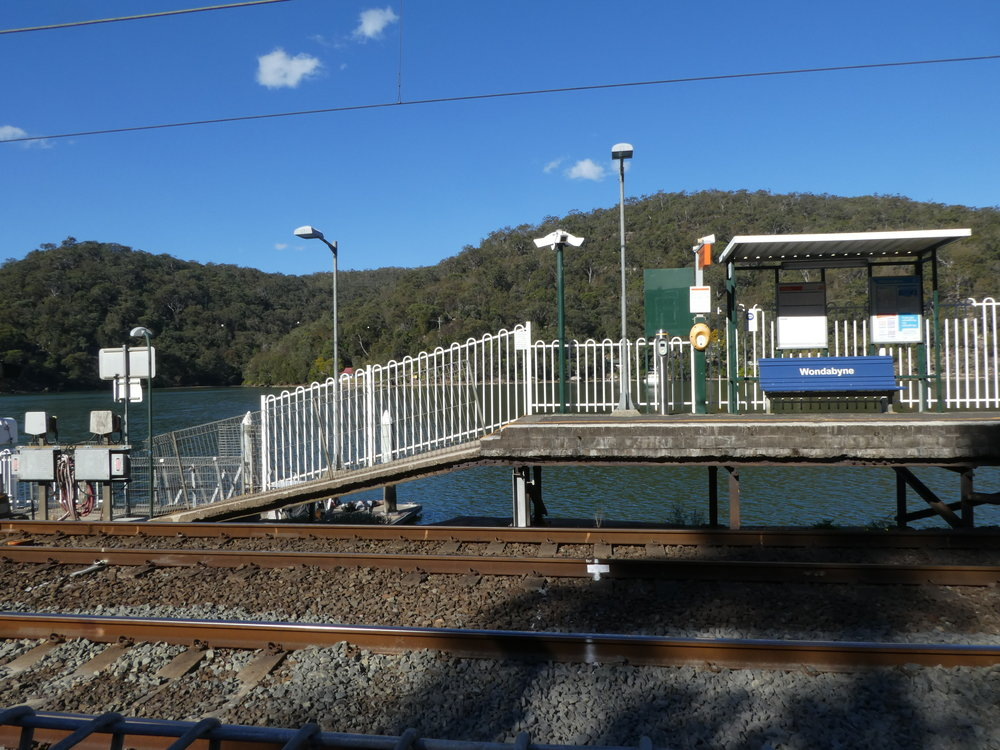 Wondabyne Station - complete with dock!