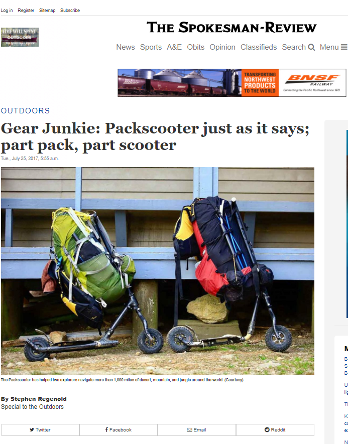 - The SPokesman reviewA write up on the TitterPlatt Traverse based on the article published by GearJunkie (above). The Spokesman Review is a broadsheet newspaper and online publication based out of Spokane Washington. It has a readership of 100,000 and 60,000 FaceBook followers.