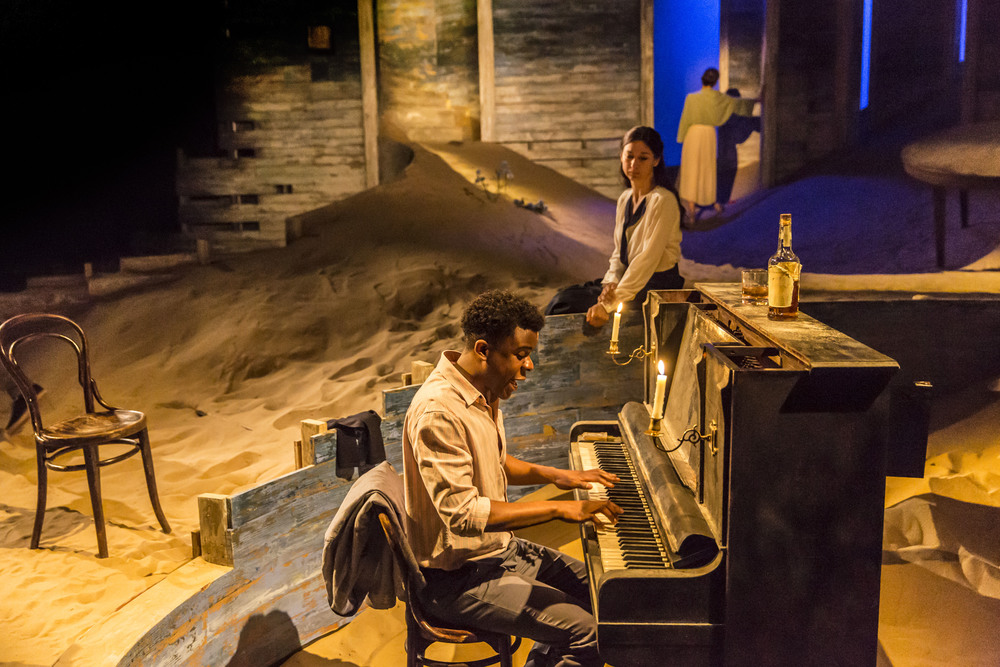 Ashley Zhangazha and Susannah Wise in Ah, Wilderness! at the Young Vic. Photo by Johan Persson