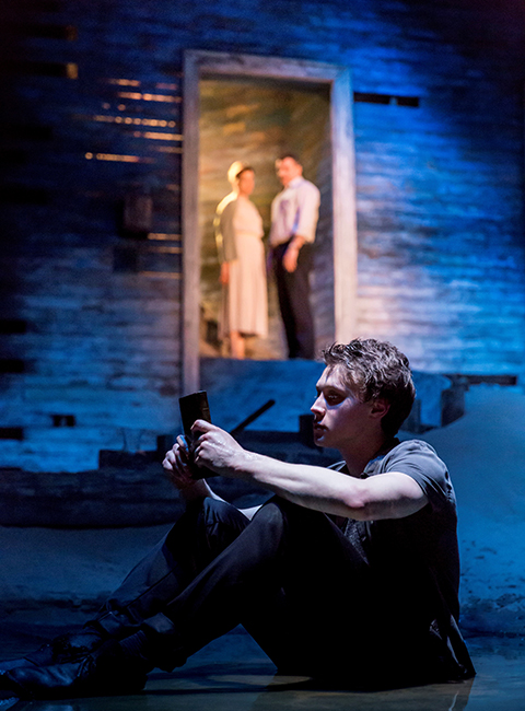 George MacKay, Janie Dee and Martin Marquez in Ah, Wilderness at the Young Vic. Photo by Johan Persson