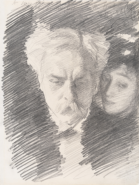Gabriel Fauré and Mrs Patrick Campbell, 1898. Private Collection