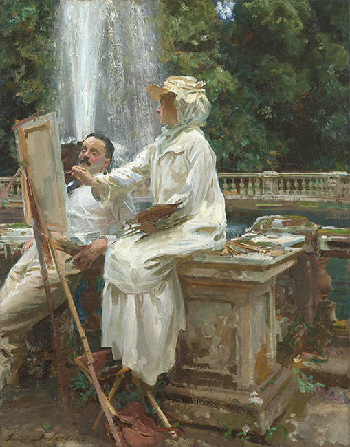 The Fountain, Villa Torlonia, Frascati, Italy by John Singer Sargent, 1907. Friends of American Art Collection, 1914.57 © Art Institute of Chicago