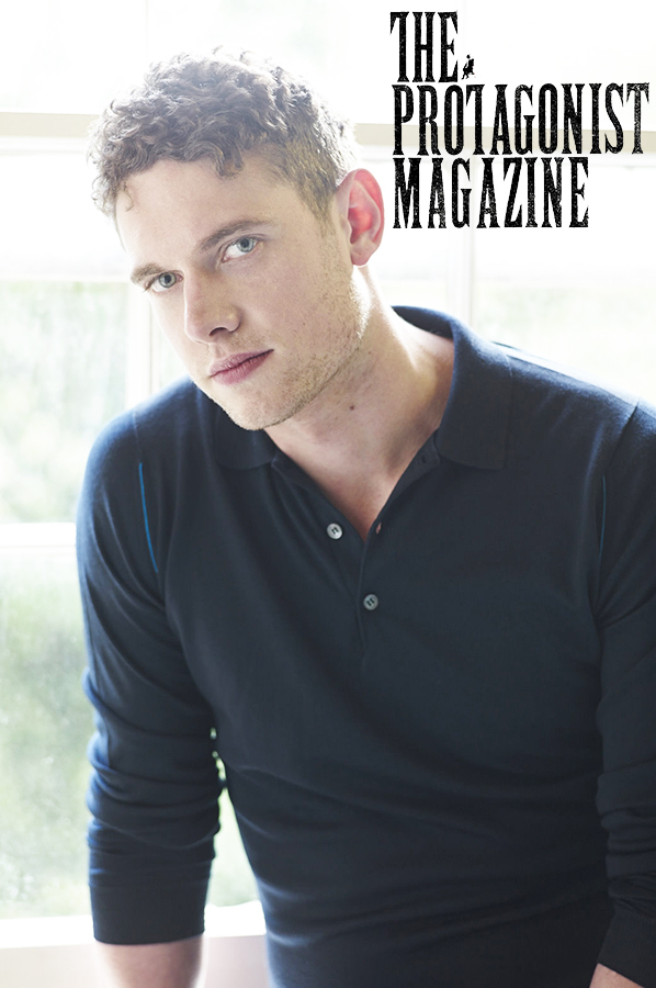 Tom Brittney wears top by John Smedley