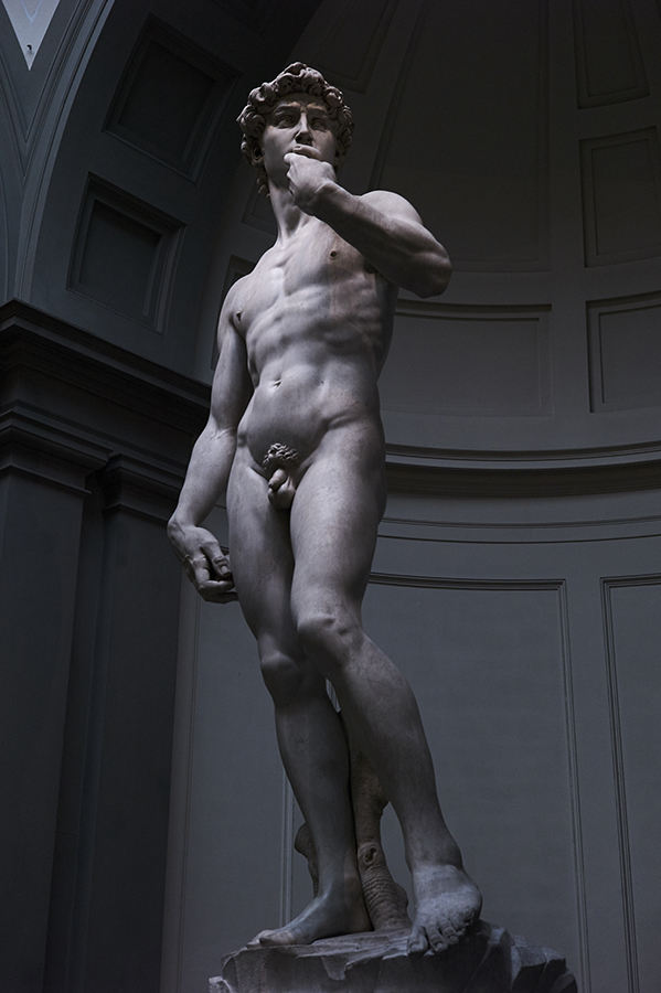Michelangelo's statue of David, Galleria dell'Accademia, Florence