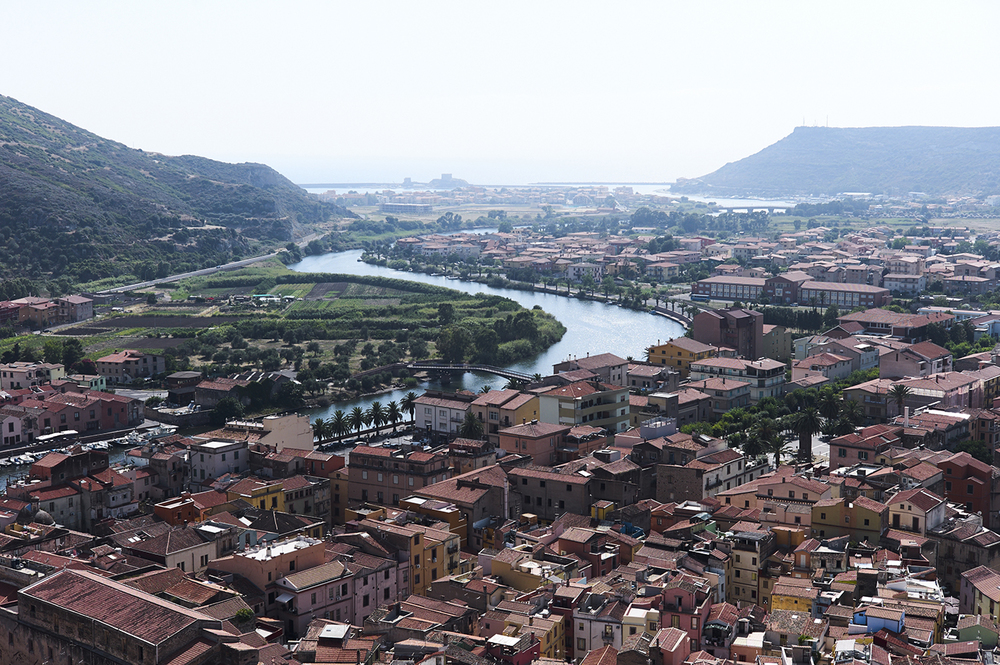 View of Bosa, Sardinia