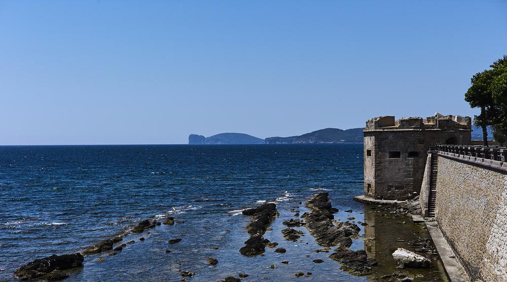 Coastal line of Alghero, Sardinia