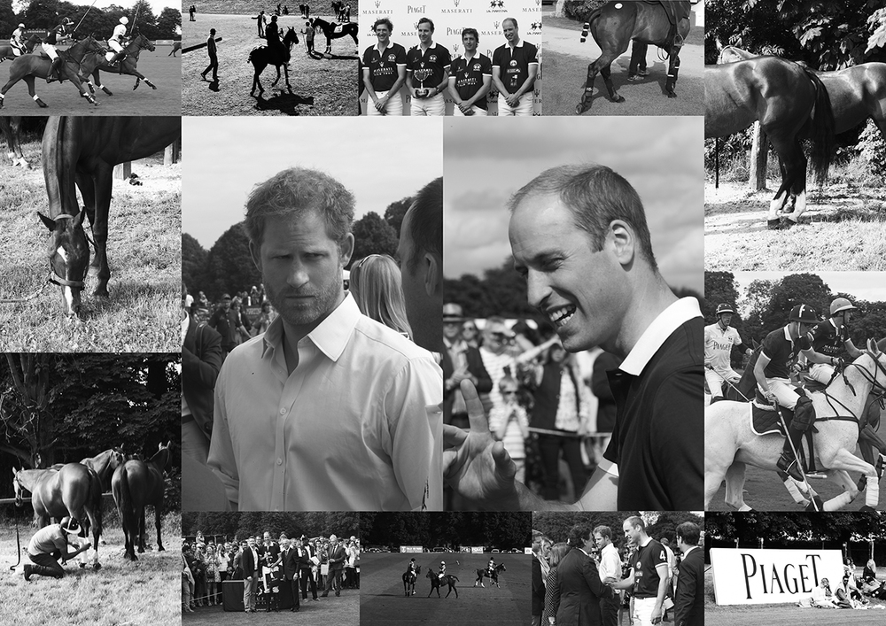 Prince Henry of Wales and The Duke of Cambridge at the polo match