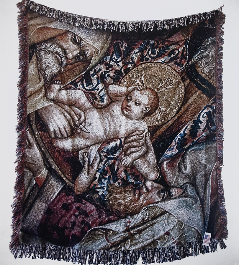 The Circumcision of Christ (Anonymous), 2016   Tapestry made by digital loom,   One of a kind,  157x127 cm, 60x50 in