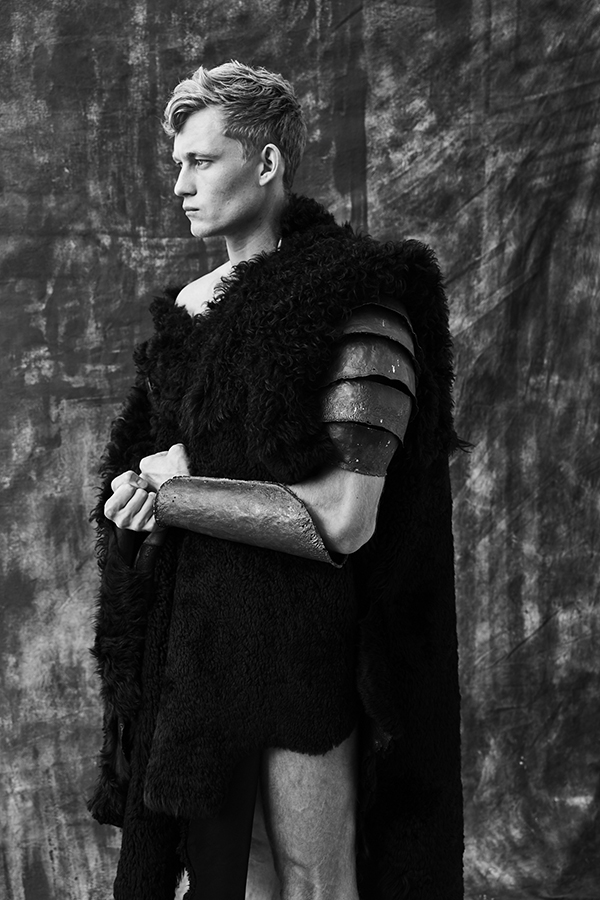 Coat by Dolce & Gabbana, armour piece by Jenny Schwarz