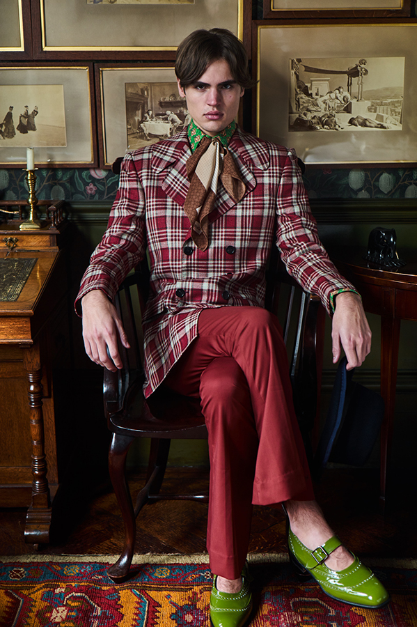 Joe wears Jacket, shirt and by Helen Antony, shoes by Manolo Blahnik