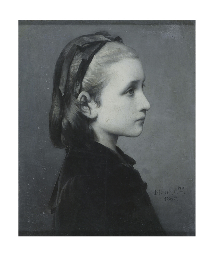 Célestin Joseph Blanc, Head of a Girl, 1867, Oil on panel, 26.7 × 21.6 cm © Victoria and Albert Museum, London