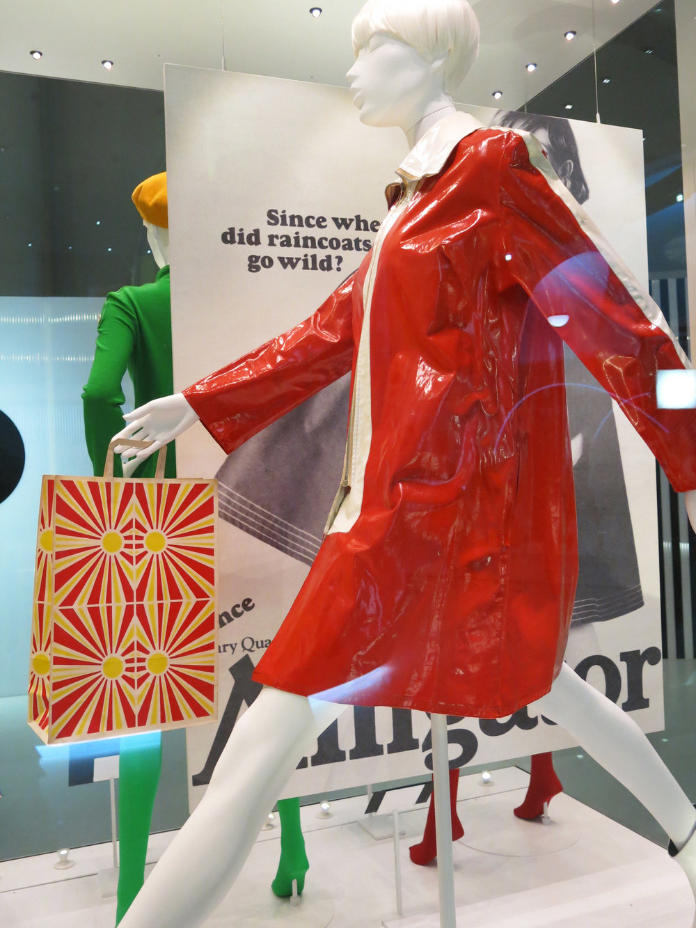 Mary Quant at V_and_A Alligator raincoat photograph by Susan Muncey.jpg