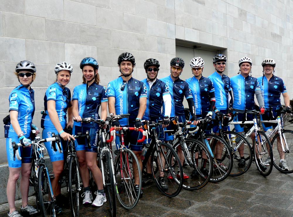 Génome Québec's team at La Boucle du Grand défi Pierre Lavoie