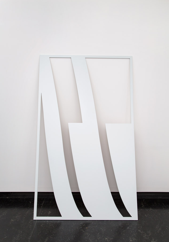 Smokey Mood, 2015, primer, spray paint on laser cut MDF, 120 x 200 x 1.8cm.