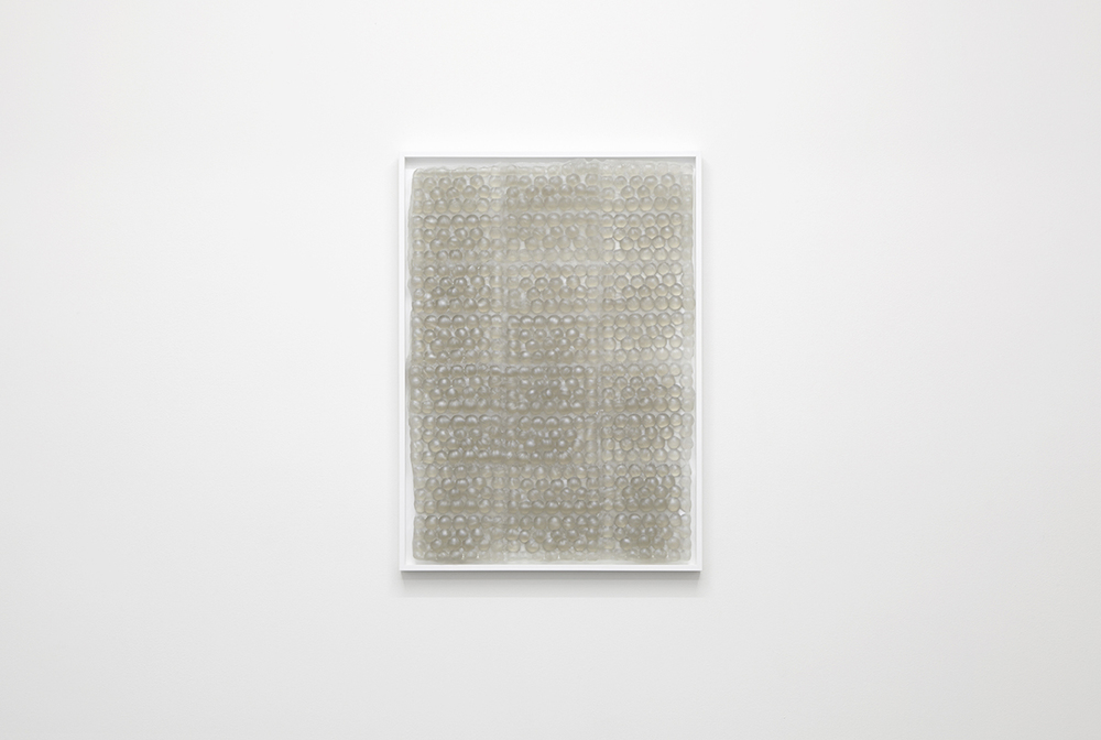 Bubbles, 2015, framed caste resin, 51 x 71 x 3cm.