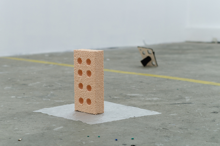 Charlie Dennington, Brick, 2013, polyurethane foam, dimensions variable.