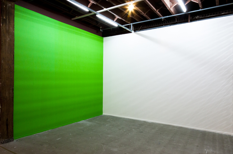 Feature Wall/ Green Screen, 2012, Chroma key paint.