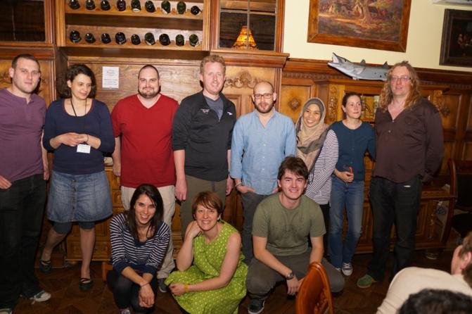 Back (L-R): Ciarán, Melina, Jonathan, John, Emilio, Nurul, Odile, Giles; Front (L-R): Miriam, Dominica and Mikel