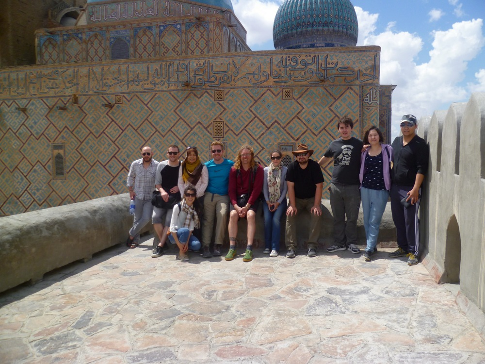 Our group of volunteers visited Turkistan City on their recent trip to Kazakhstan, where they visited the mosques as well as the ancient city of Sauran