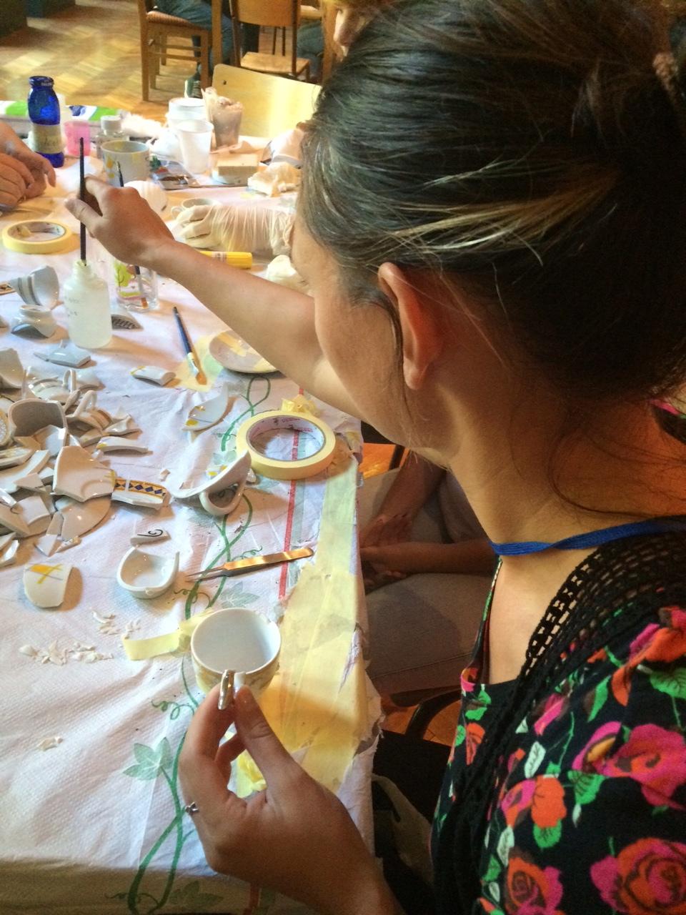 Having a go at reconstructing some broken ceramics