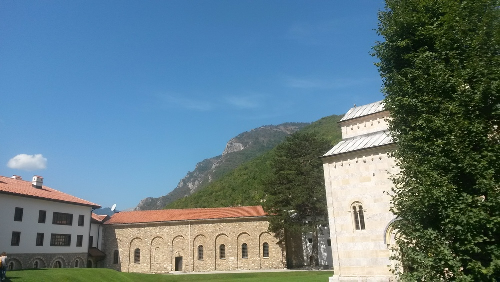 The monastery on a lovely sunny day