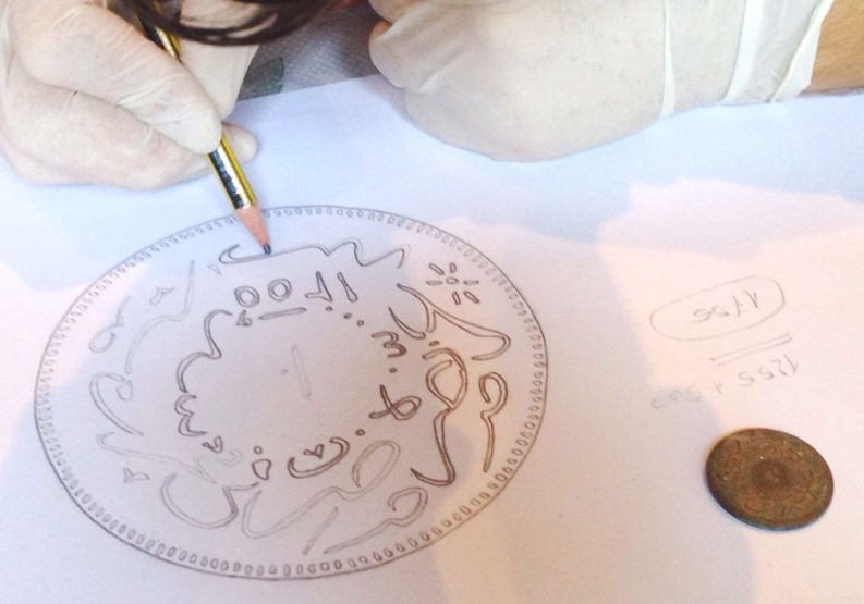 Drawing the coin for documentation purposes