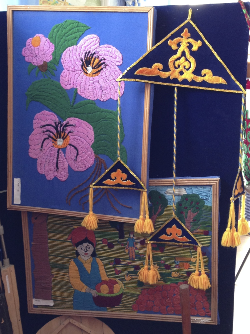 An example of some of the traditional crafts on display, as contributed by the students