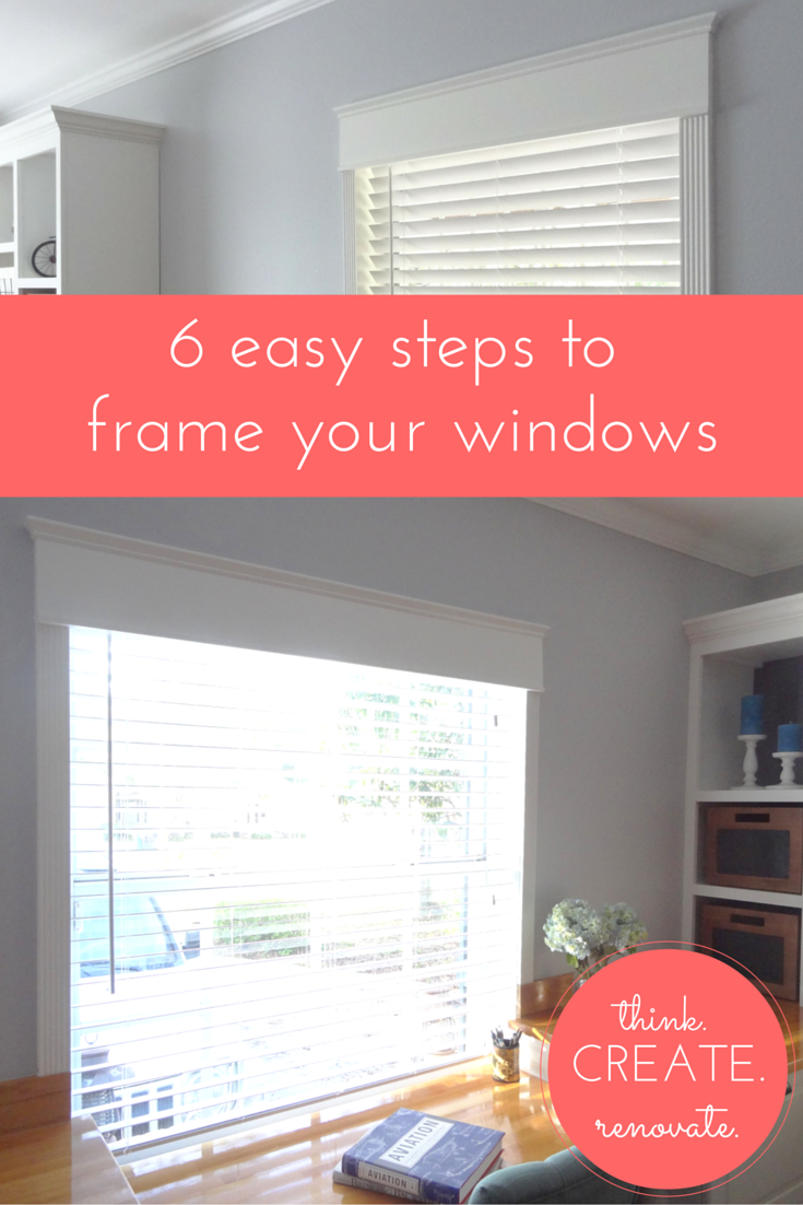 How to frame your windows, the easy DIY.