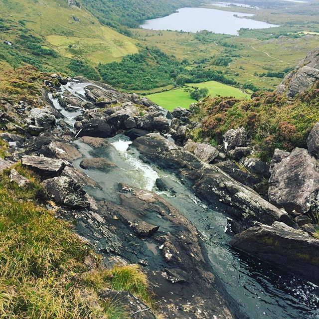 "What a view! There are few nicer places to spend the weekend than in ""the Kingdom""! Guided walk in the stunning Gleninchiquin Park with the team from @sheenfalls  #greatoutdoors #kerry #ringofbeara #kenmare"