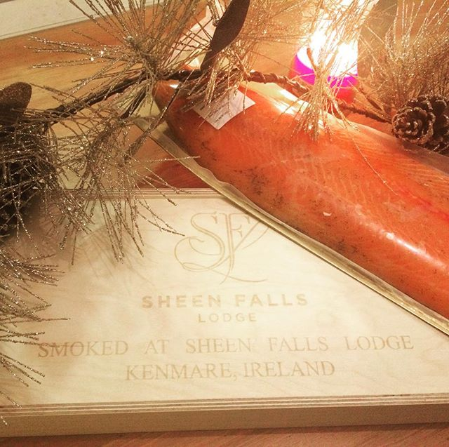 A very special addition to Christmas - a beautiful side of salmon courtesy of @sheenfalls , smoked in the hotel's on-site smokehouse. Simply divine! #christmasgifts #irishsalmon #sheenfalls