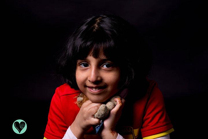 Young girl with Tyrosinaemia Type 1