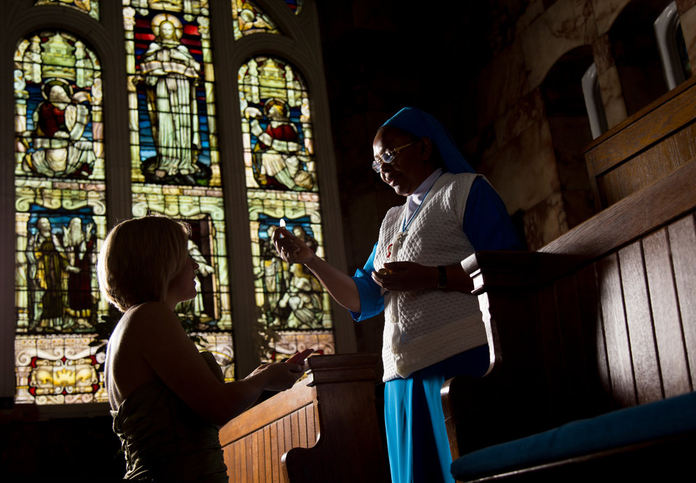 Victoria and Sister Florence at the Chapel in Birmingham Children's Hospital.