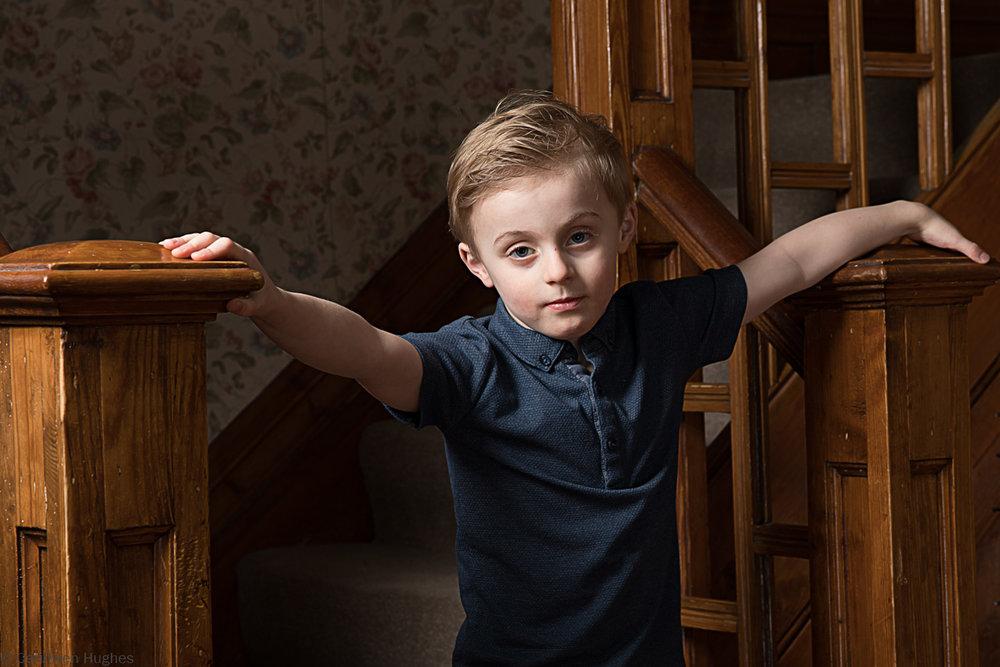 Little boy with Duchenne Muscular Dystrophy