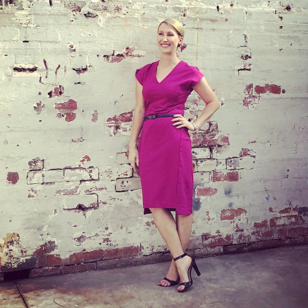 Sally Hughes full length fuschia dress at the Glasshaus 1548 square.jpg
