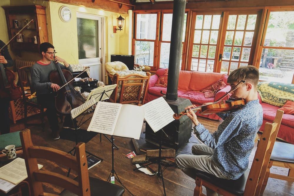 Nathaniel Boyd and I, tackling Mozart's last quartet K.590.