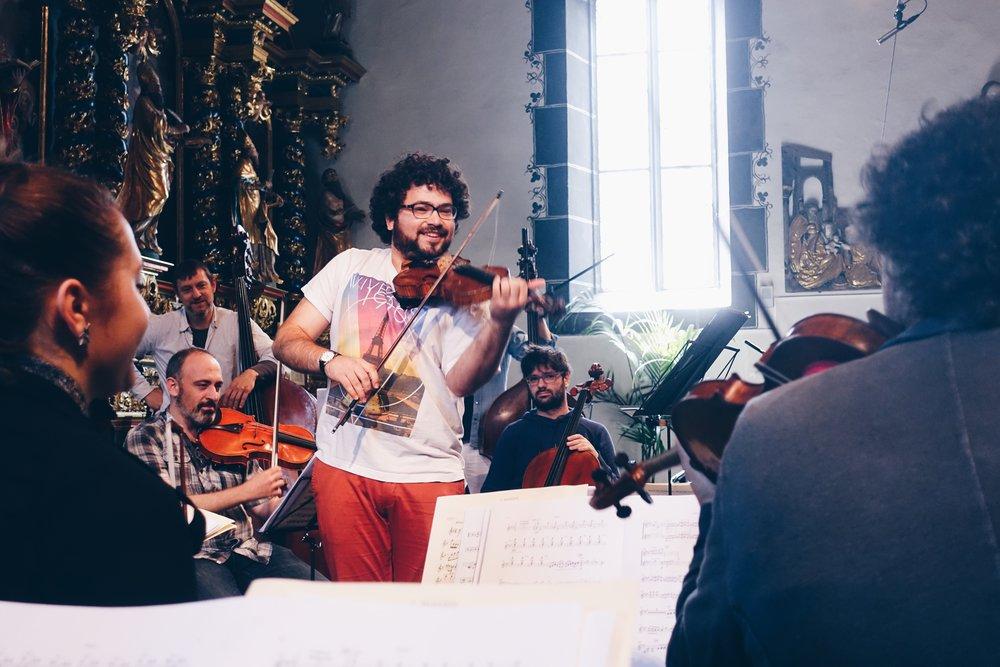Violinist Jonian-Ilias Kadesha