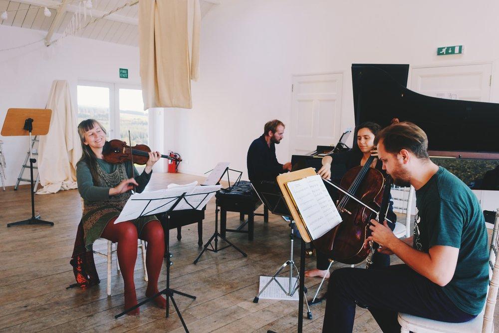 Helena Winkelman, Alasdair Beatson, Chiara Enderle and Jānis Tretjuks.