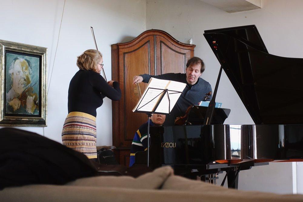 Amarins Wierdsma in lesson with Philippe Graffin
