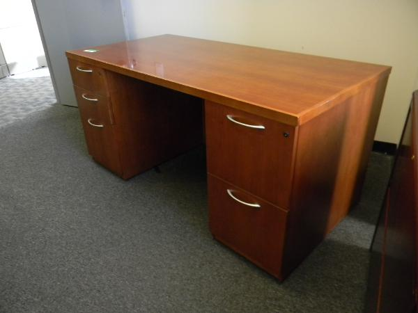 "60"" x 30"" Gunlocke Desks - wood 1 BBF and 1 FF 4 Units"