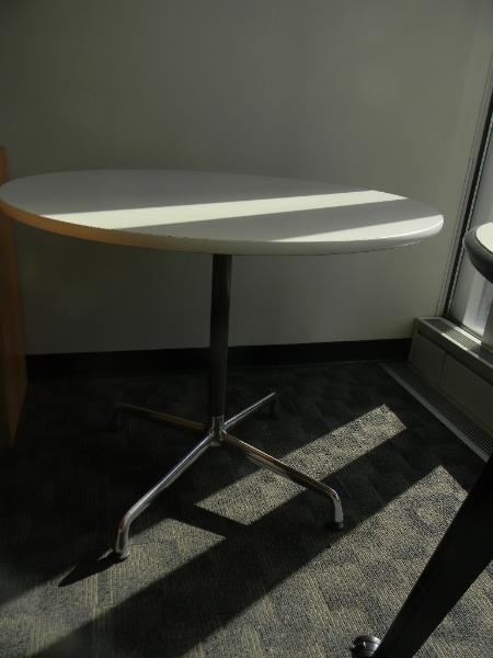 "2: 36"" Herman Miller tables"