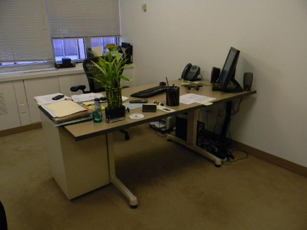 "6: 72"" x 36"" Herman Miller tables."