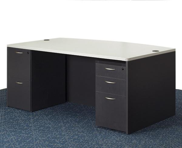 Double Pedestal desk in Grey from Office Furniture NYC