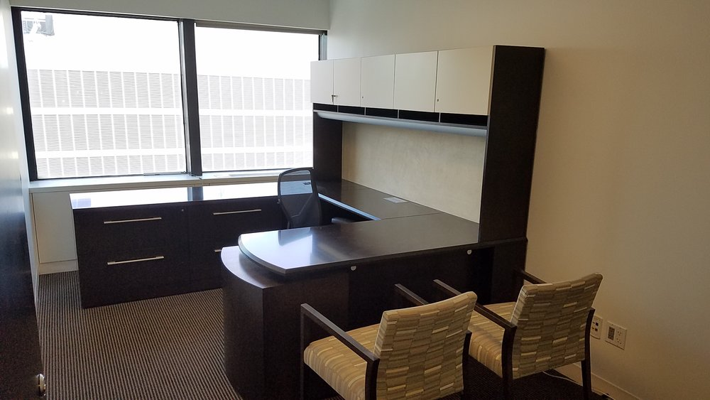 72X30INCH DESK WITH 42IN BRIDGE AND 8FT CREDENZA.jpg