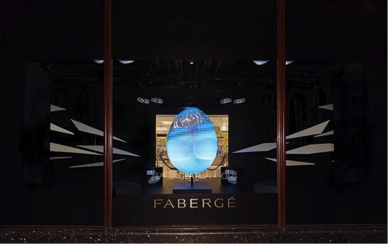 FABERGE OFFRE UNE EXPERIENCE « PHYGITALE » IMMERSIVE